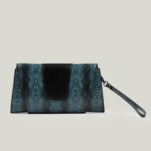 Clutch bag, Python-Passion, Turquoise - Dminimis