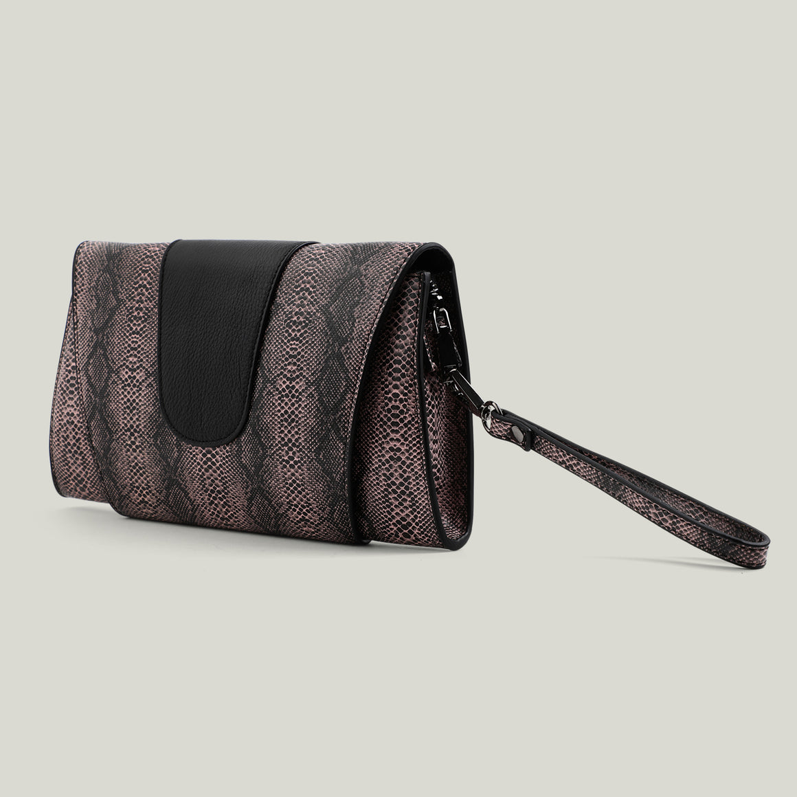Clutch bag, Python-Passion, Salmon - Dminimis