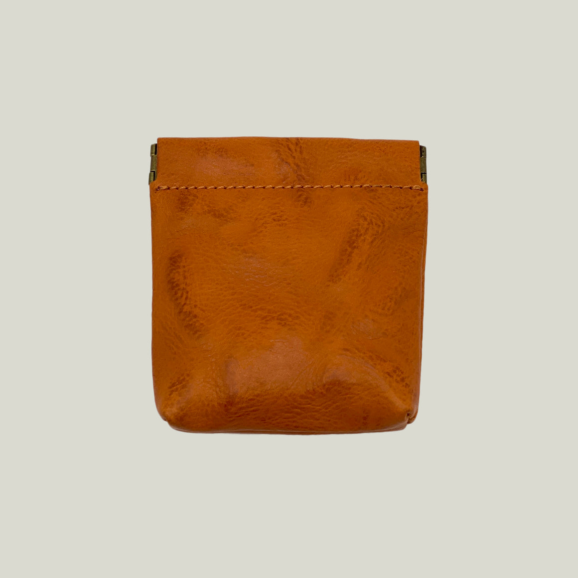 Coin Pouch Snap Top Leather