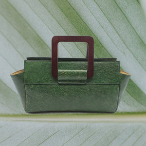 Handbag, Emerald Envy green