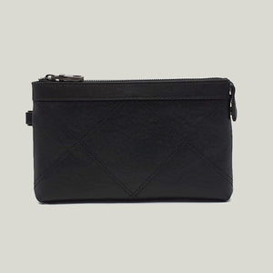 Men wrist pouch leather, Series-Five Black