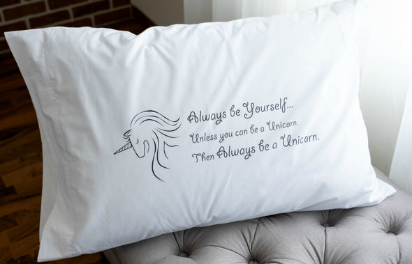 Nighty Notes™ Always Be A Unicorn Pillowcase