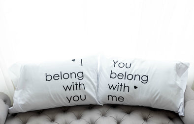 Nighty Notes™ I Belong With You Pillowcase Set