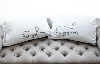 Nighty Notes™ Love You More Pillowcase Set