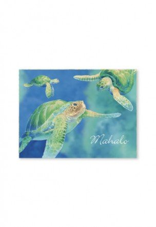 Swimming Honu Mahalo Cards 10-Pack - DHS Deals