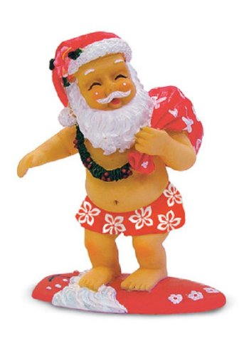 Island Heritage Surfing Santa Ornament - DHS Deals