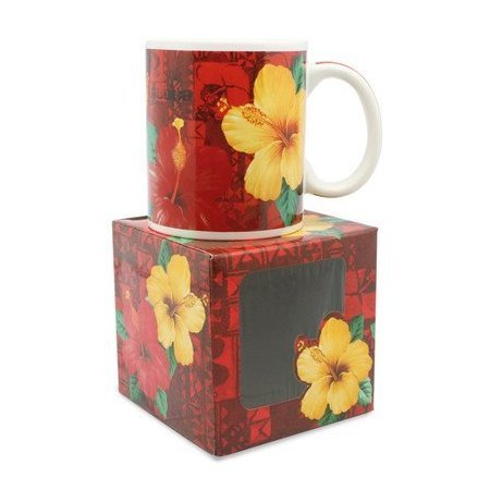 10 oz. Island Treasures Mug, Hibiscus Aloha - DHS Deals