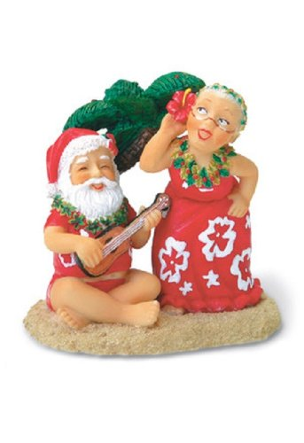 Island Heritage Santa and Dancing Mrs. Claus Ornament - DHS Deals
