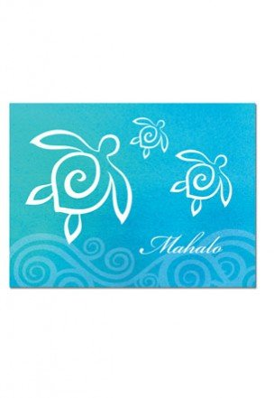 Honu Swirl Mahalo Cards 10-Pack - DHS Deals