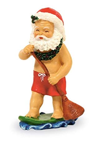 Island Heritage Paddleboarding Santa Ornament - DHS Deals