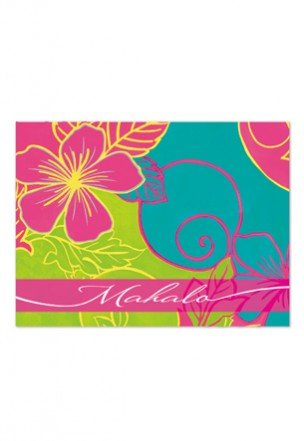 Lively Hibiscus Mahalo Cards 10-Pack - DHS Deals