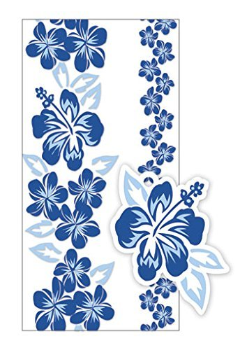Hawaiian Candy Lei Making Kit - 5 Blue Hibiscus Lei Kit - DHS Deals