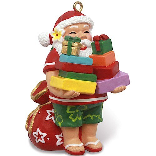 Island Heritage Santa's Presents Hawaiian Christmas Ornament