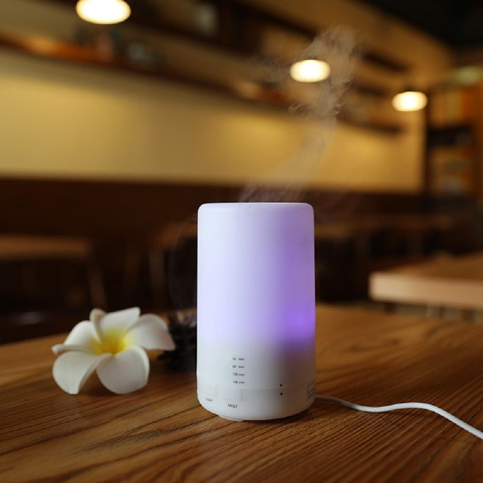 ESSENTIAL OILS AROMATHERAPY DIFFUSER - Cool Mist - Changing 7 LED Colors Auto Shutoff USB Powered Convenience - DHS Deals