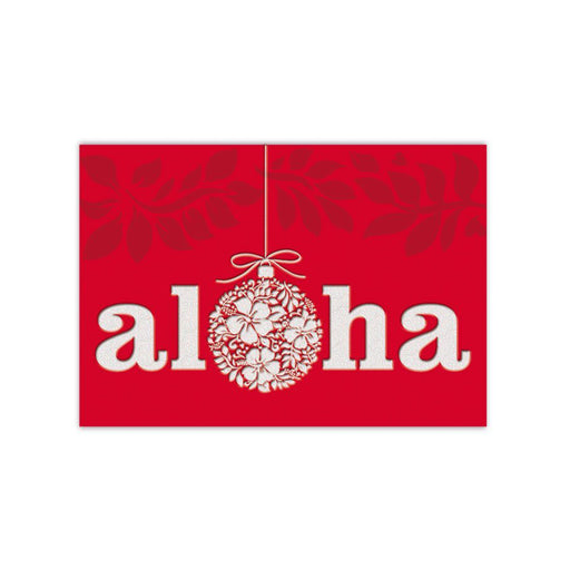 Aloha Christmas Cards with Flower Ornament 12 Pack - DHS Deals