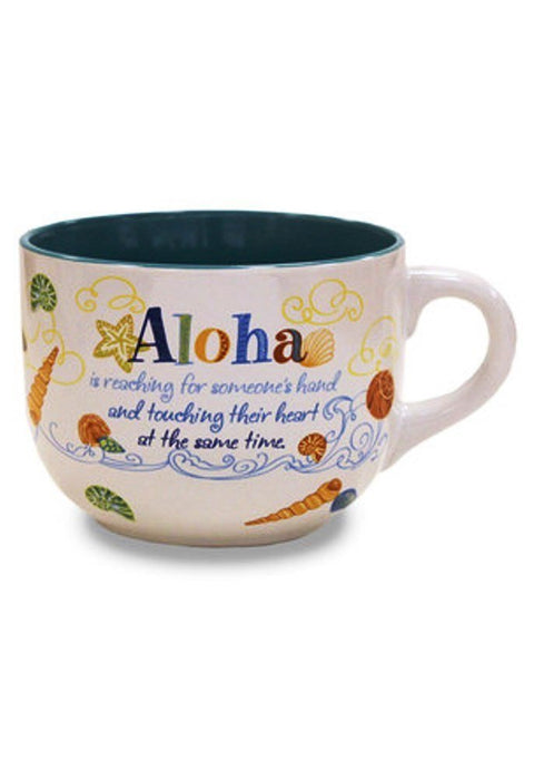 Island Heritage Aloha Is Inspirational Mug 16 oz Cup - DHS Deals