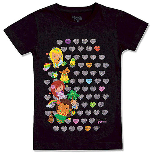 Welcome to the Islands Island Island Yumi Sweethearts Black with Multicolors for Juniors - DHS Deals