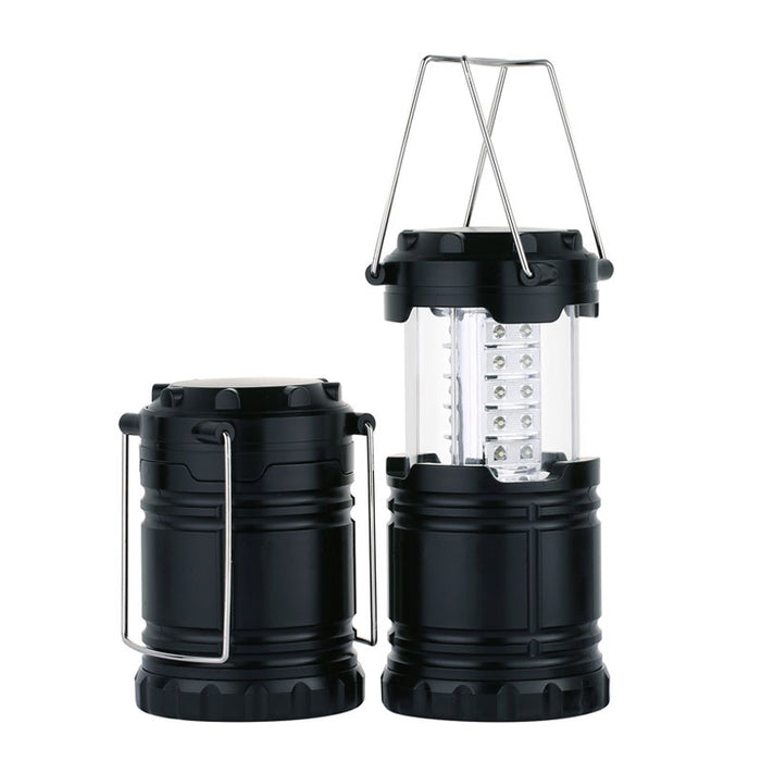 Enovis 2 Pack Portable LED Camping Lantern with 6 AA Batteries - Survival Kit for Emergency, Hurricane, Power Outage - DHS Deals