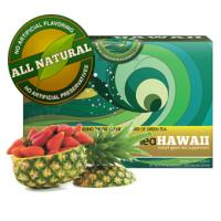 Green Tea Hawaii (Pineapple Strawberry) Powder with Noni, 60 Packets, 540 mg of Antioxidants/Polyphenols, All Natural Tasty Drink