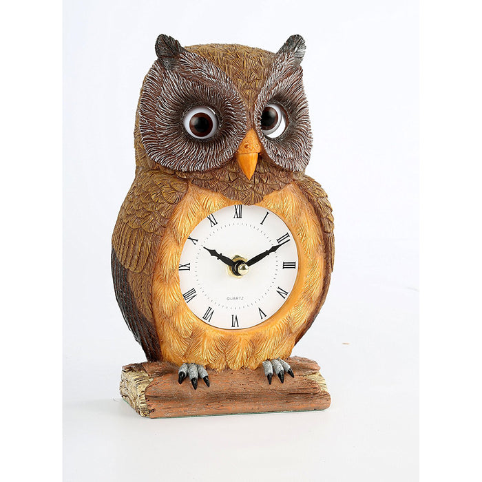 Owl Clock with Pendulum Eyes - DHS Deals