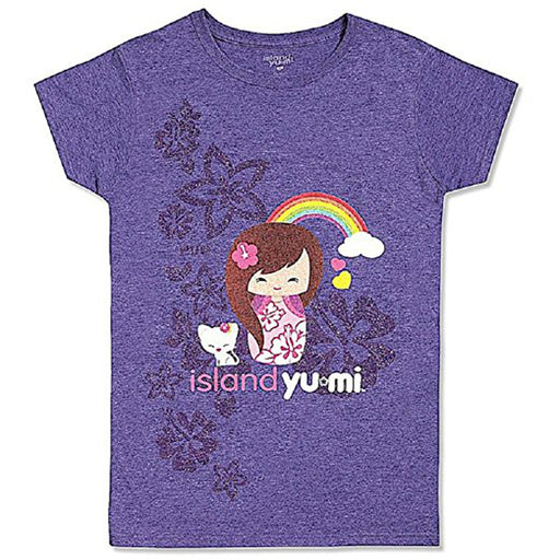 Purple Hawaiian Island Yumi Pua Shirt for Juniors - DHS Deals