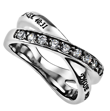 """Those Who Wait Upon the Lord...Isaiah 40:31"" On Spirit & Truth's Radiance Ring"