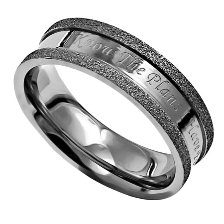 """For I Know The Plans"" On a Beautiful Silver Champagne Ring"