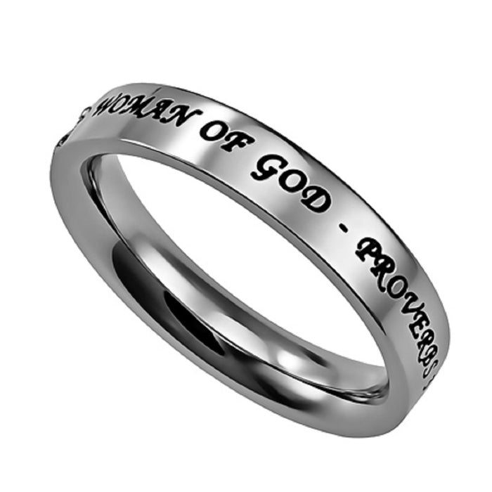 Spectacular Woman of God Ring, Pave Stone Settings For Extra Brilliance