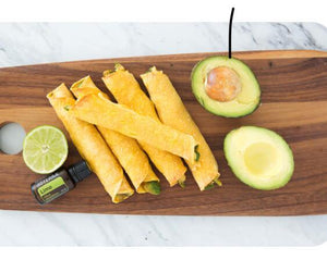 Yummy Avocado & Hummus Taquitos with lime