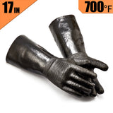 RAPICCA Heat Resistant BBQ Gloves for Smoker/Grill/Deep Frying/Waterproof & Oil Resistant 17in 700°F