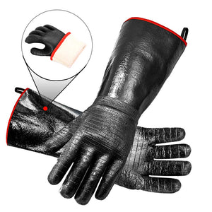 RAPICCA Heat Resistant BBQ Gloves 14in 450°F XL size