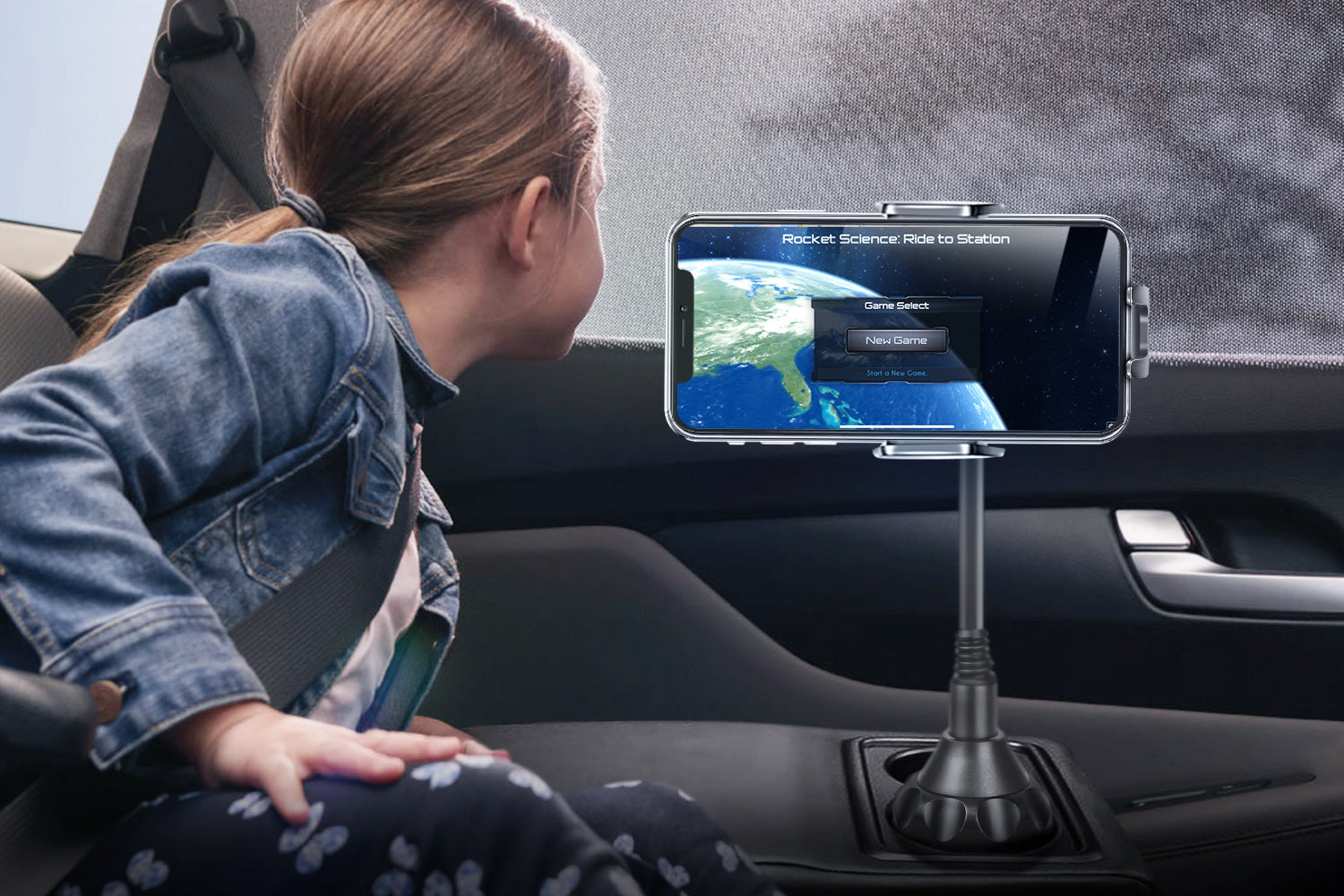 NASA new game in TOPGO Cup Holder Phone Mount