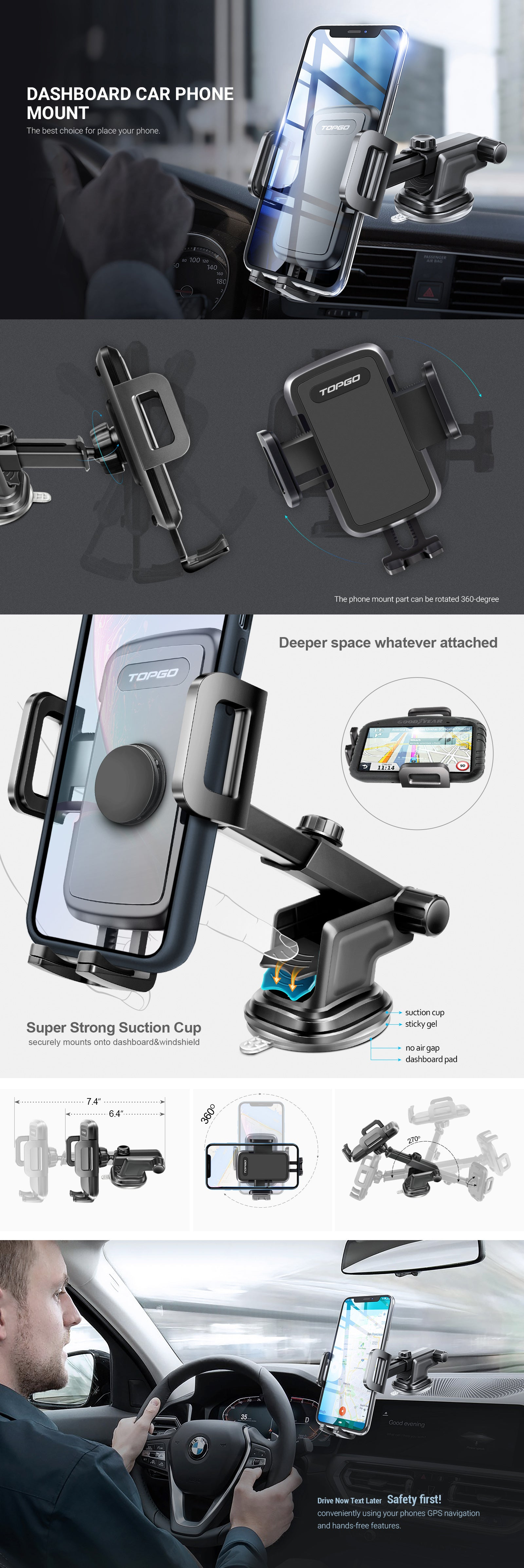TOPGO Section Phone Holder