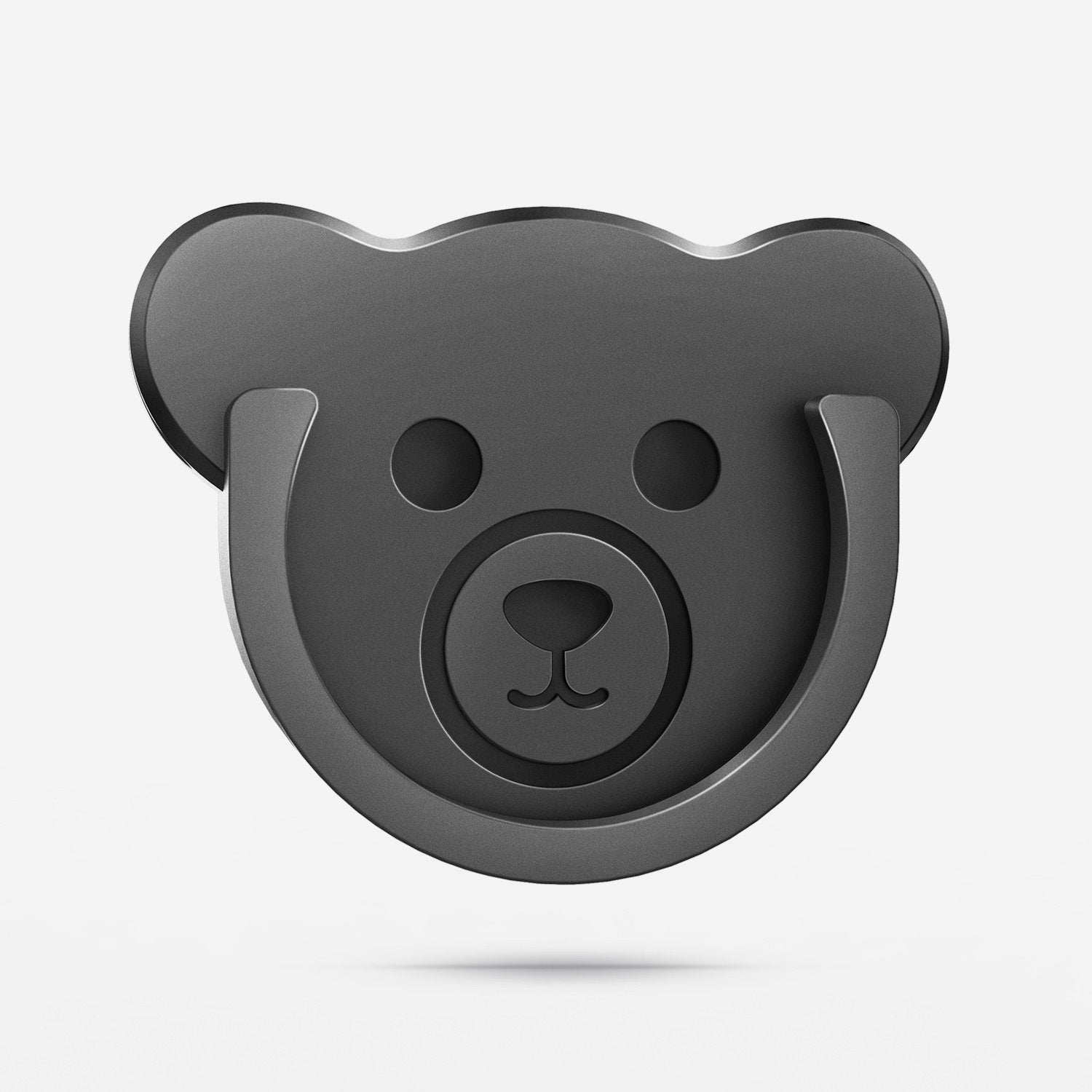 TOPGO Grips Mount for Phone Stand Bear 🐻 Style Phone Holder (black) 3 Pack