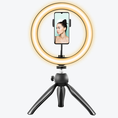 "10"" LED Ring Light with Tripod & Phone Holder (U2 version)"