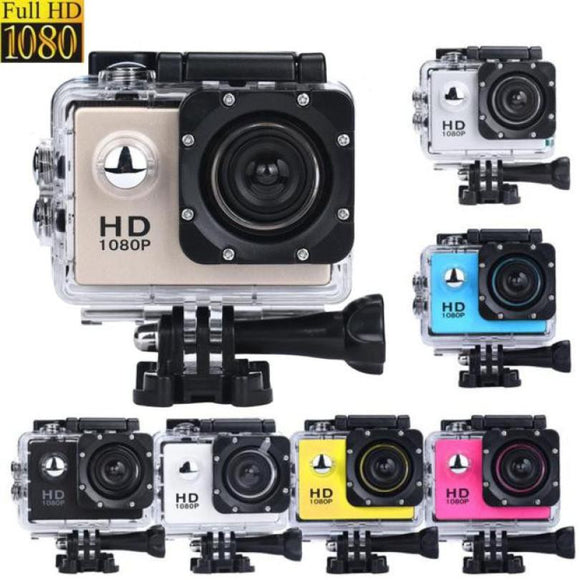 2Inch Mini Waterproof Sports Recorder Car DV Camera For Action Camcorder 1080P HD Camera For Sport High Quality Gift Travel