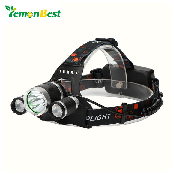 T6 LED Headlight Fishing Torch Rechargeable Flashlight 4 Light Modes for Outdoor Sports Bike Bycicle Camping Biking Hunting