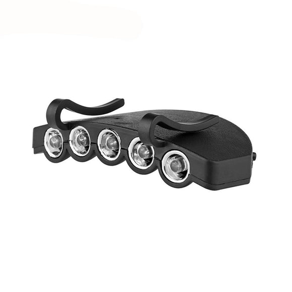 LemonBest Ultra Bright Head Lights Clip-On COB 200LM LED Cap Light Hands-free Hat Clip Lamp Steady ON