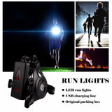 Night Running Light Sport Waterproof Chest Lamp Flashlight Purple & White for Reading Outdoor Camping Backpacking Fishing