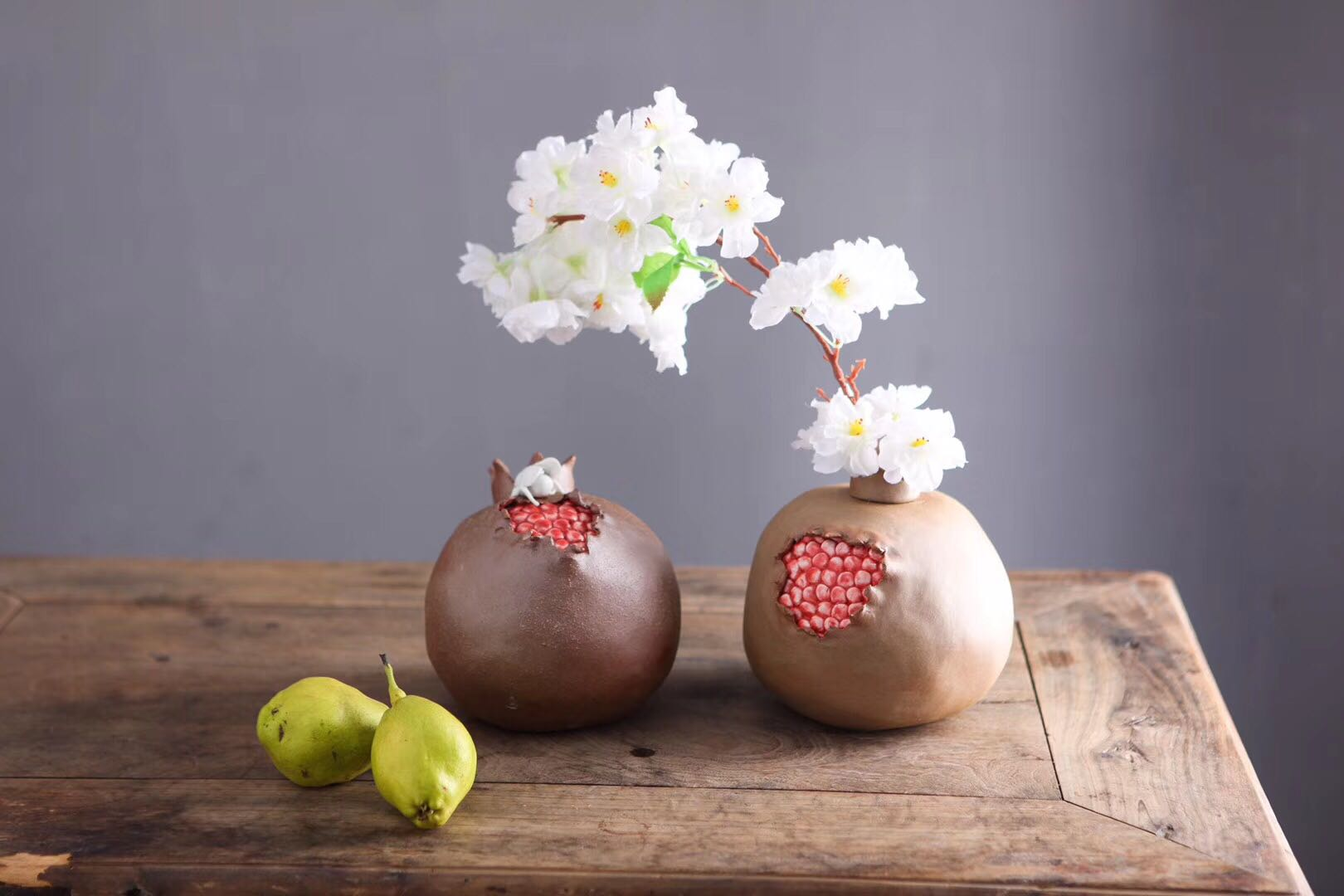 Ceramic Pomegranate Tea Figures (big)