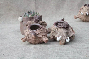 Decorative Ceramic Tea Figures and Planter