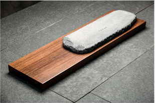 Long Heavy Bamboo and Stone Tea Board