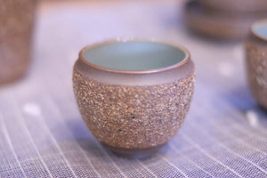 Rough pottery with celadon Ru kiln