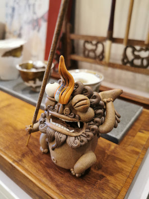 Decorative Ceramic Tea Figures and Incense Burnner