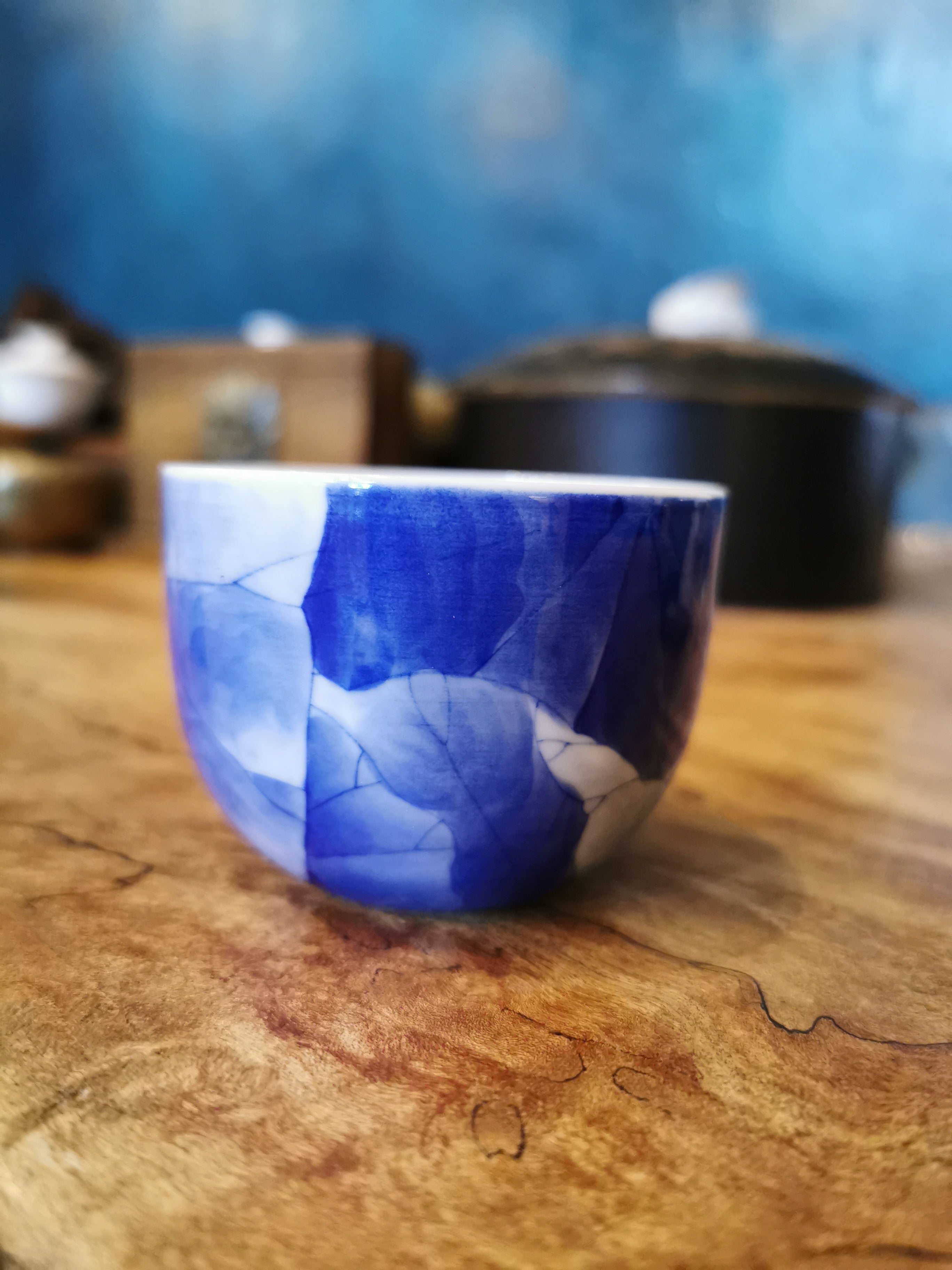 Master Xu's Qing hua lotus single cup
