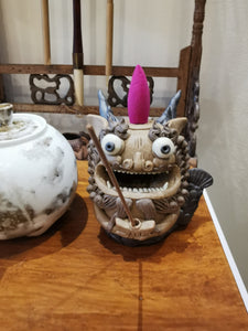 Dragon fish tea figure and incense burnner