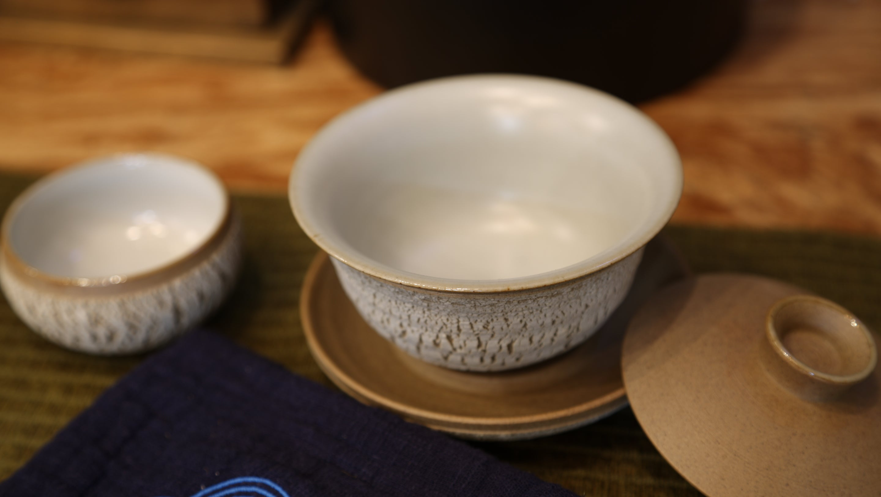 Earth Element Cracking Glaze Gaiwan Set