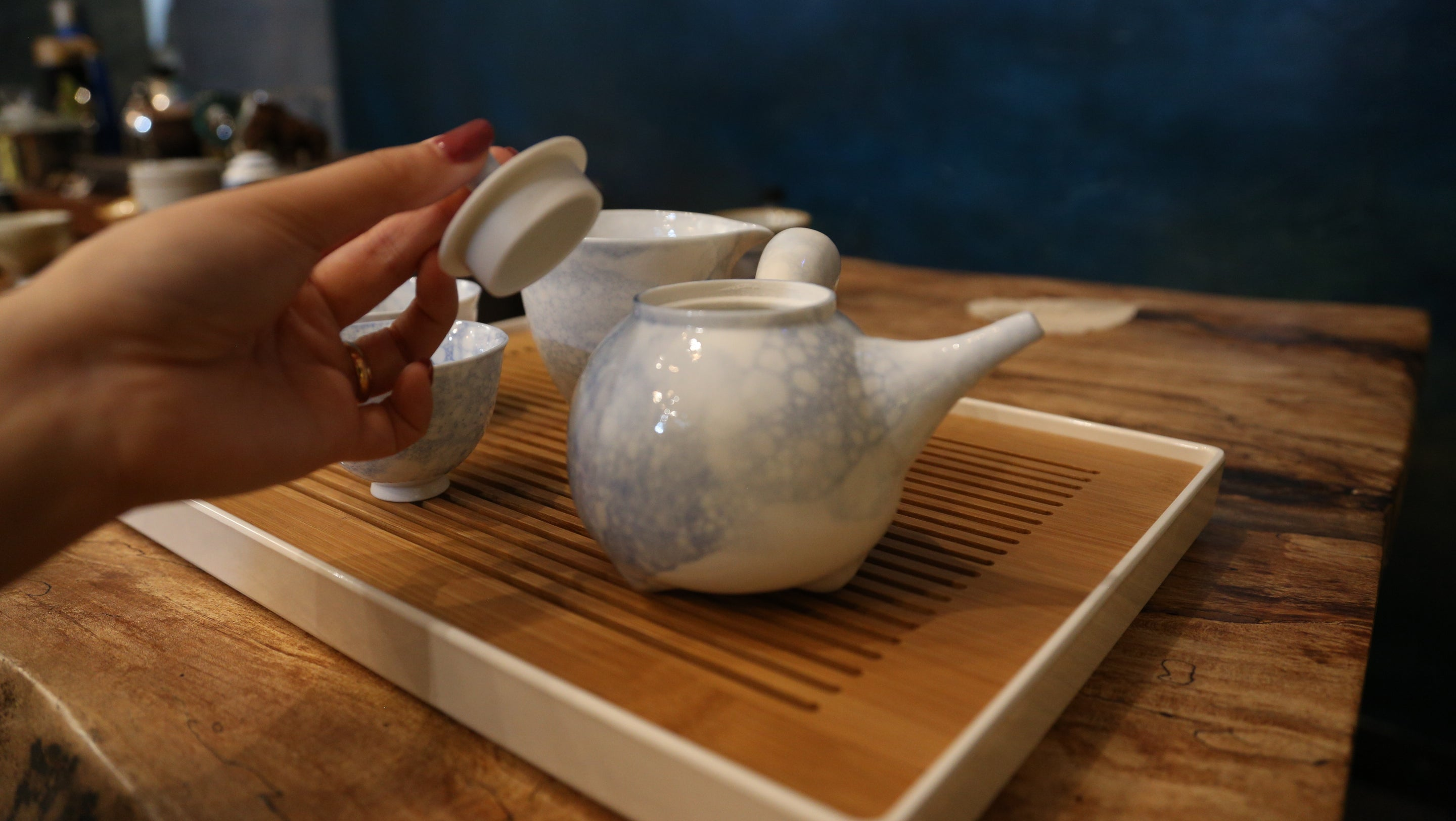 Bubble Glaze Pot Tea Set