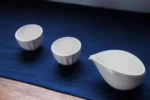 Water drop Shape white sharing cup