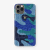 Alligator Case Camo iPhone 11 Pro | Blue Ocean - Yellow Gold